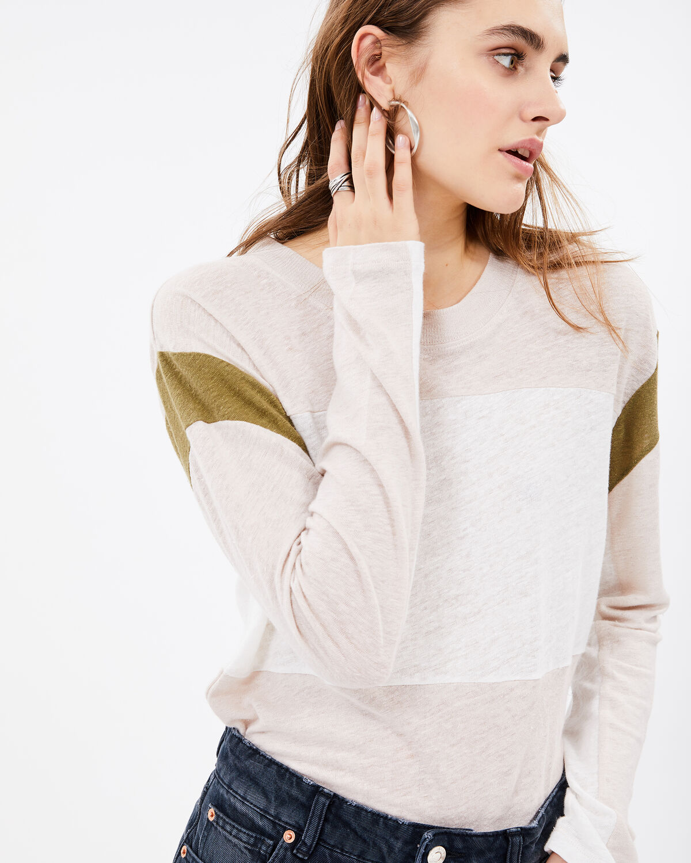 Sage T-Shirt Light Brown And Khaki by IRO Paris