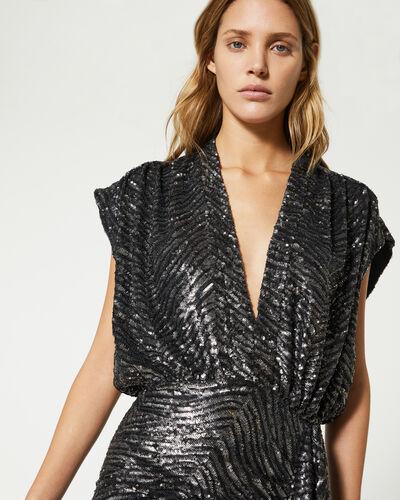 IRO - SAGRIA DRESS BLACK/SILVER