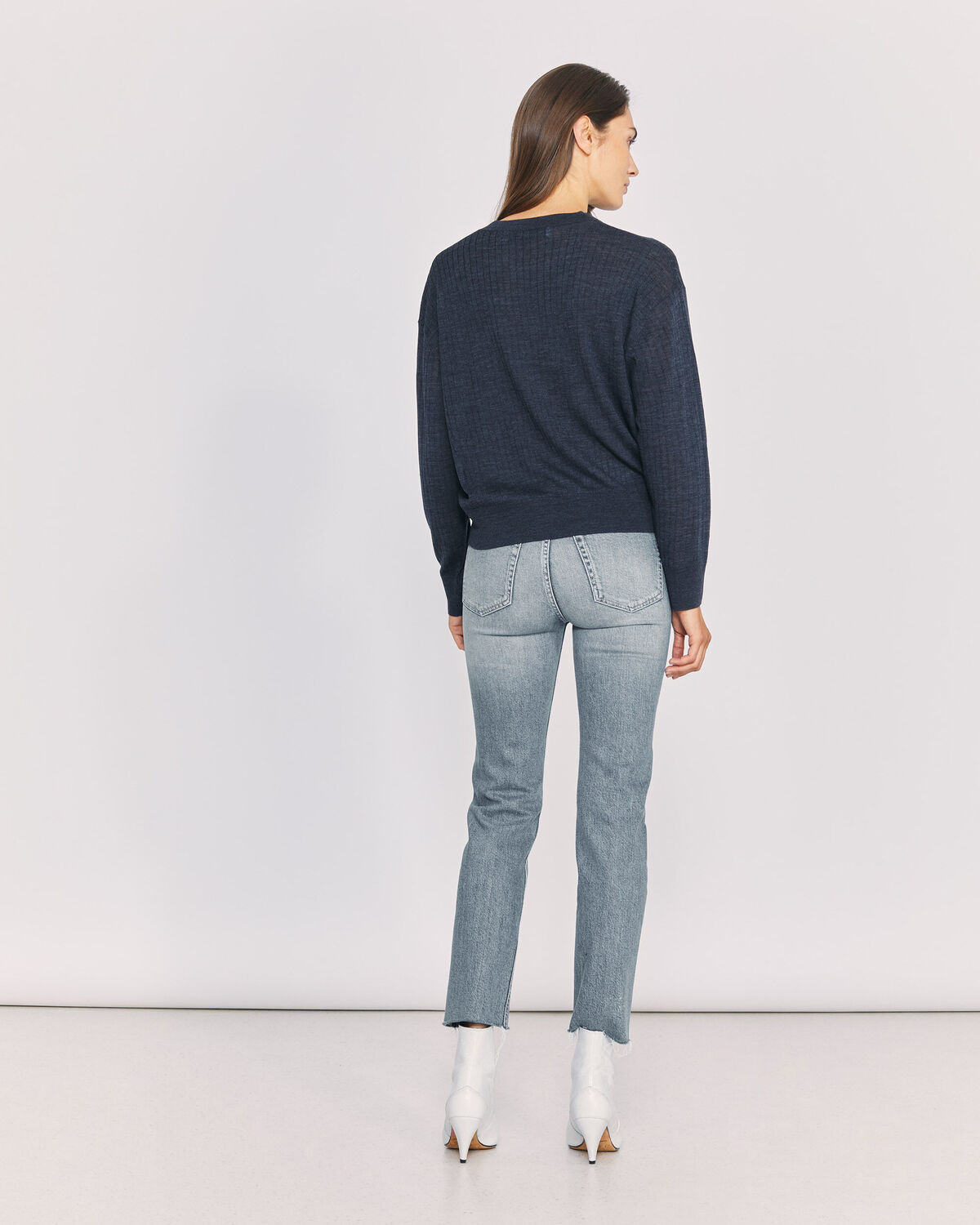 IRO - JEAN TAILLE HAUTE COUPE DROITE DEEN BLUE WASHED