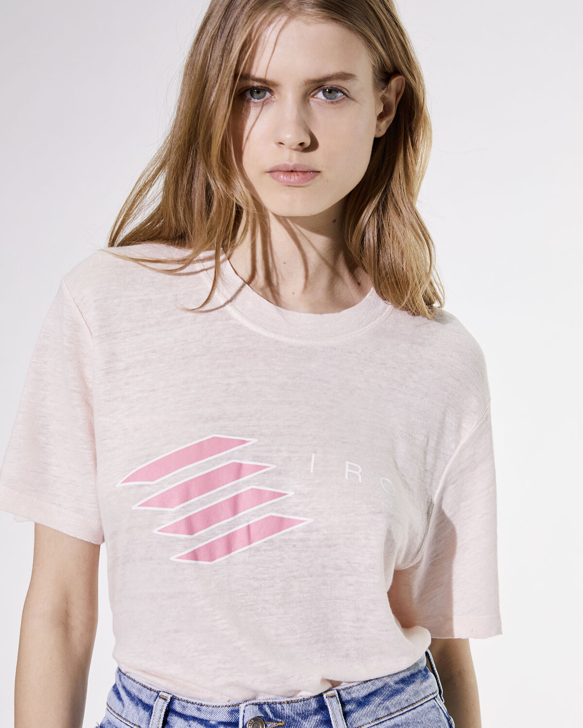 Lucie T-Shirt Cream Pearl And Pink by IRO Paris