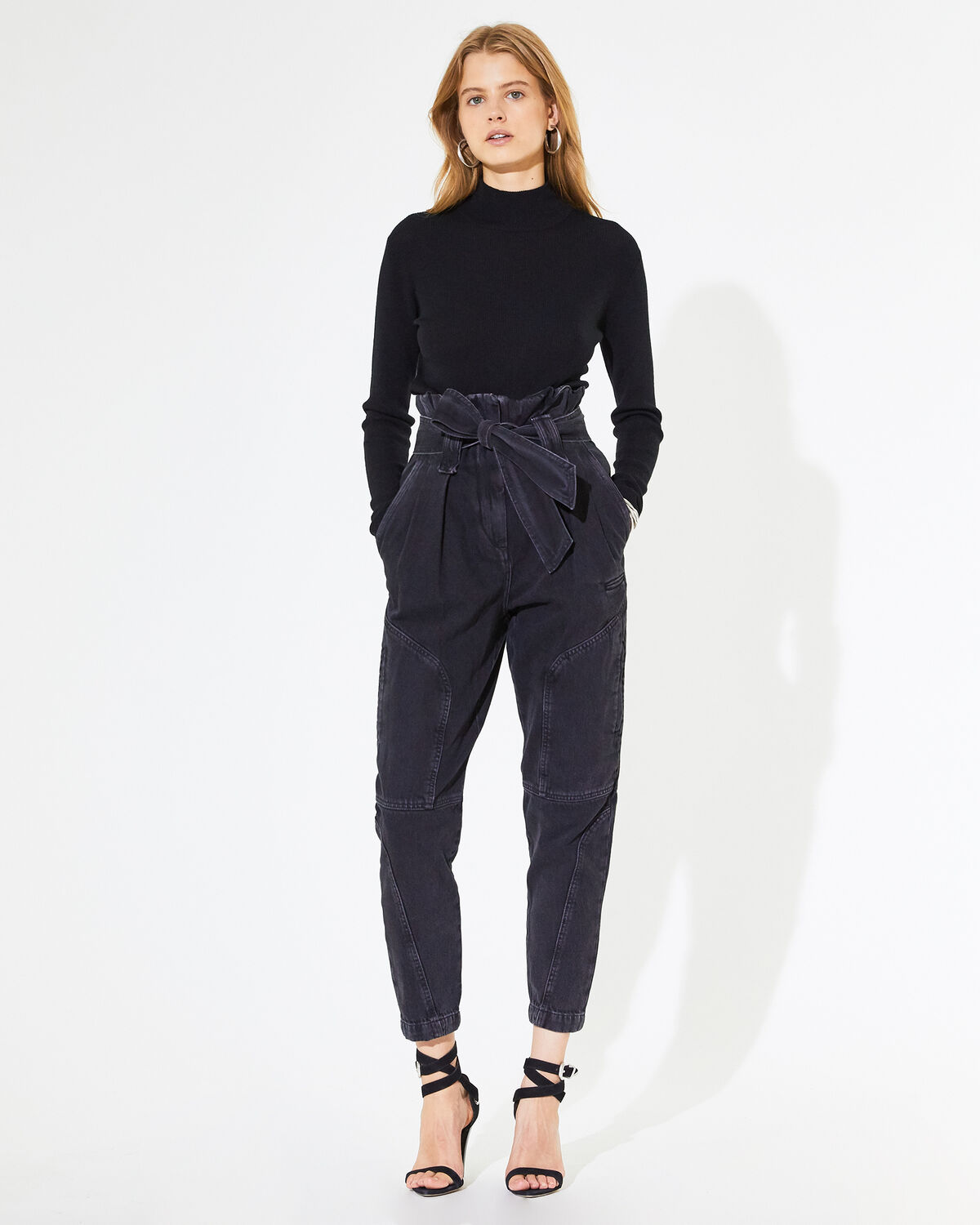IRO - PANTALON HARRY BLACK DENIM