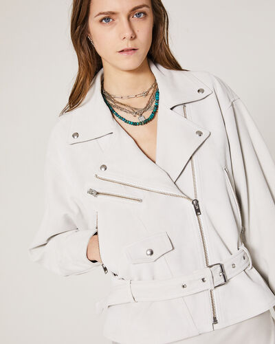 IRO - TIGAO LEATHER JACKET CLOUDY WHITE