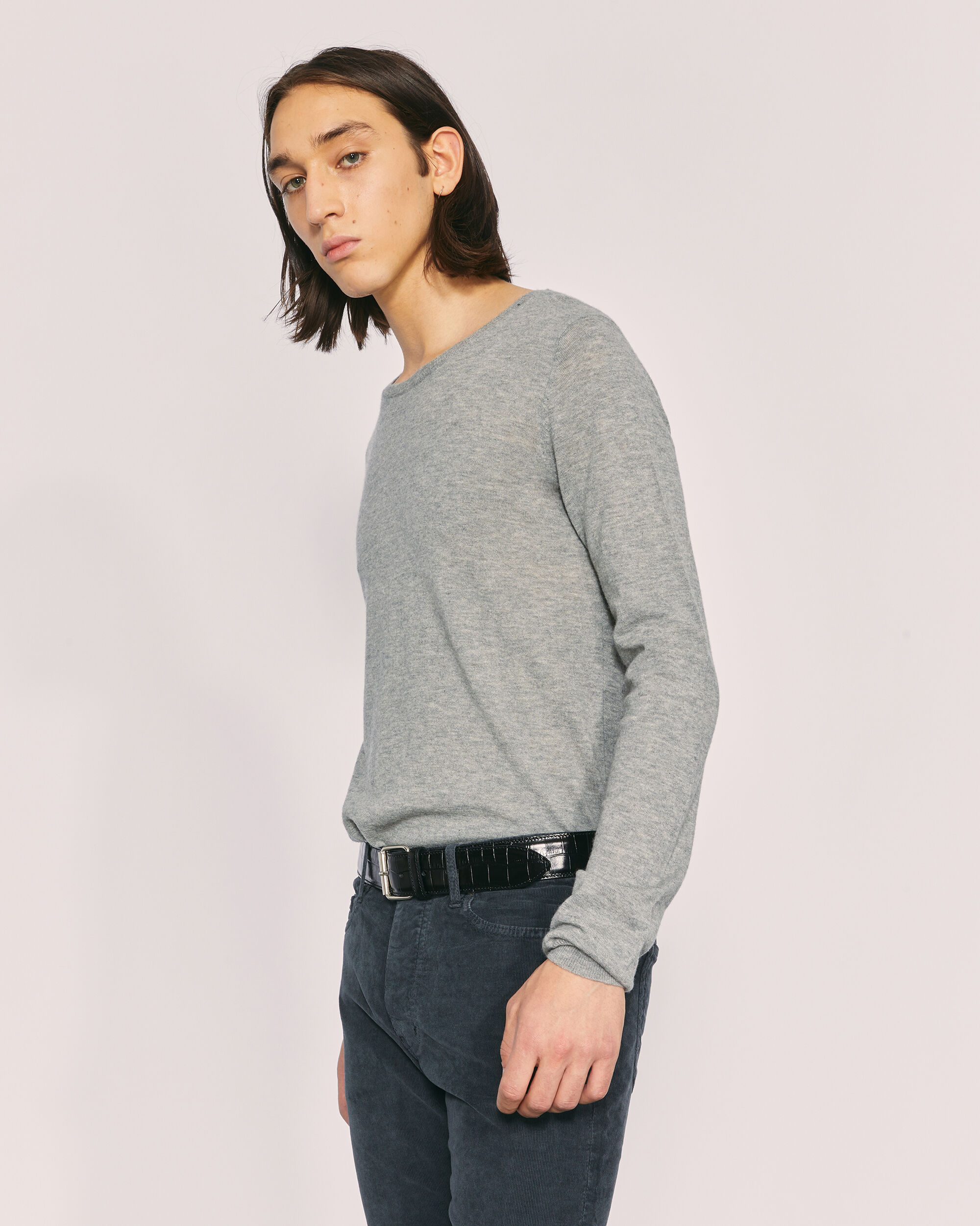 IRO RAGE SWEATER,MIXED GREY