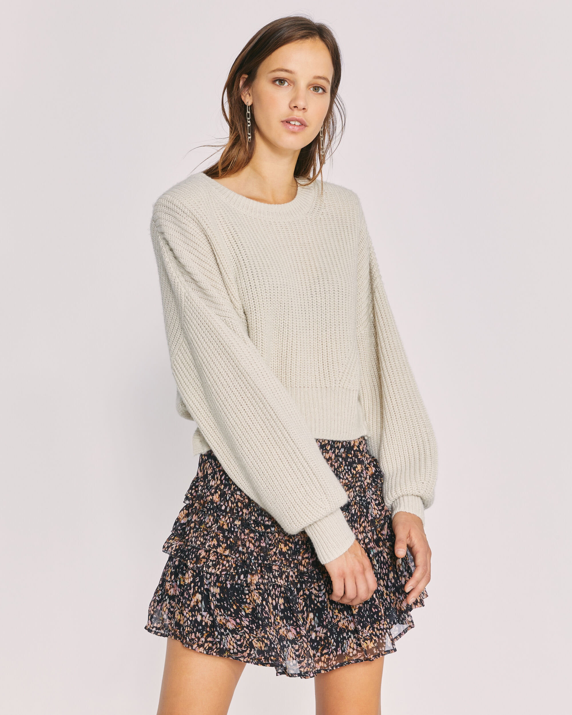 IRO MIND SWEATER,CLOUDY WHITE
