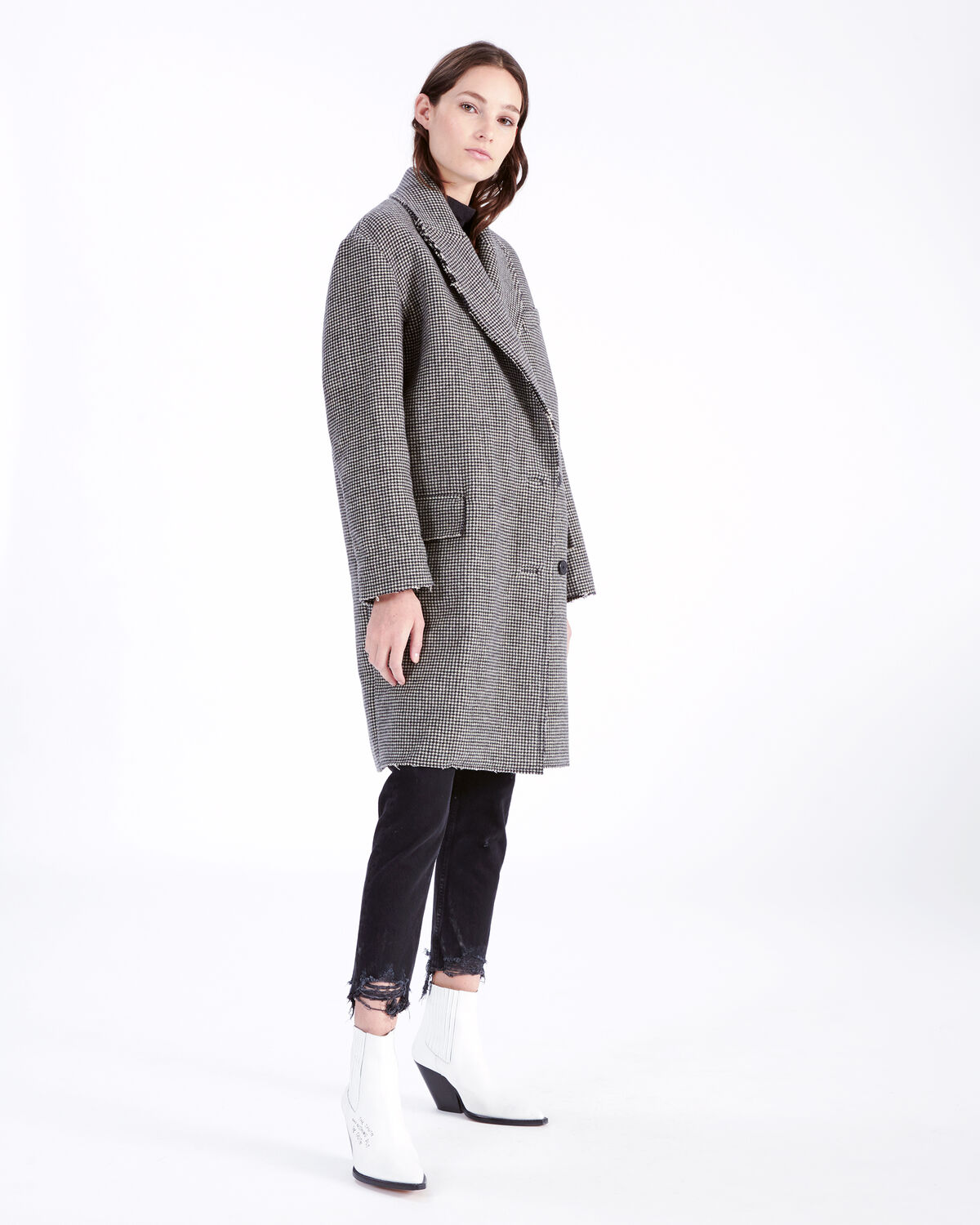 IRO - QUIP COAT BLACK/ECRU