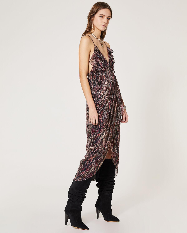 IRO - CIOTINA DRESS BLACK/FUSHIA