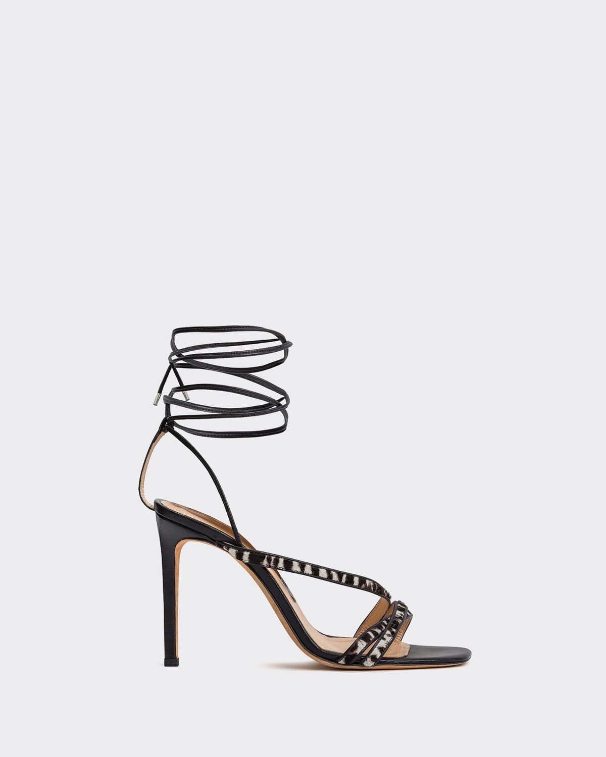IRO - CAPUCIN PUMPS BLACK ZEBRE WASHED GREY