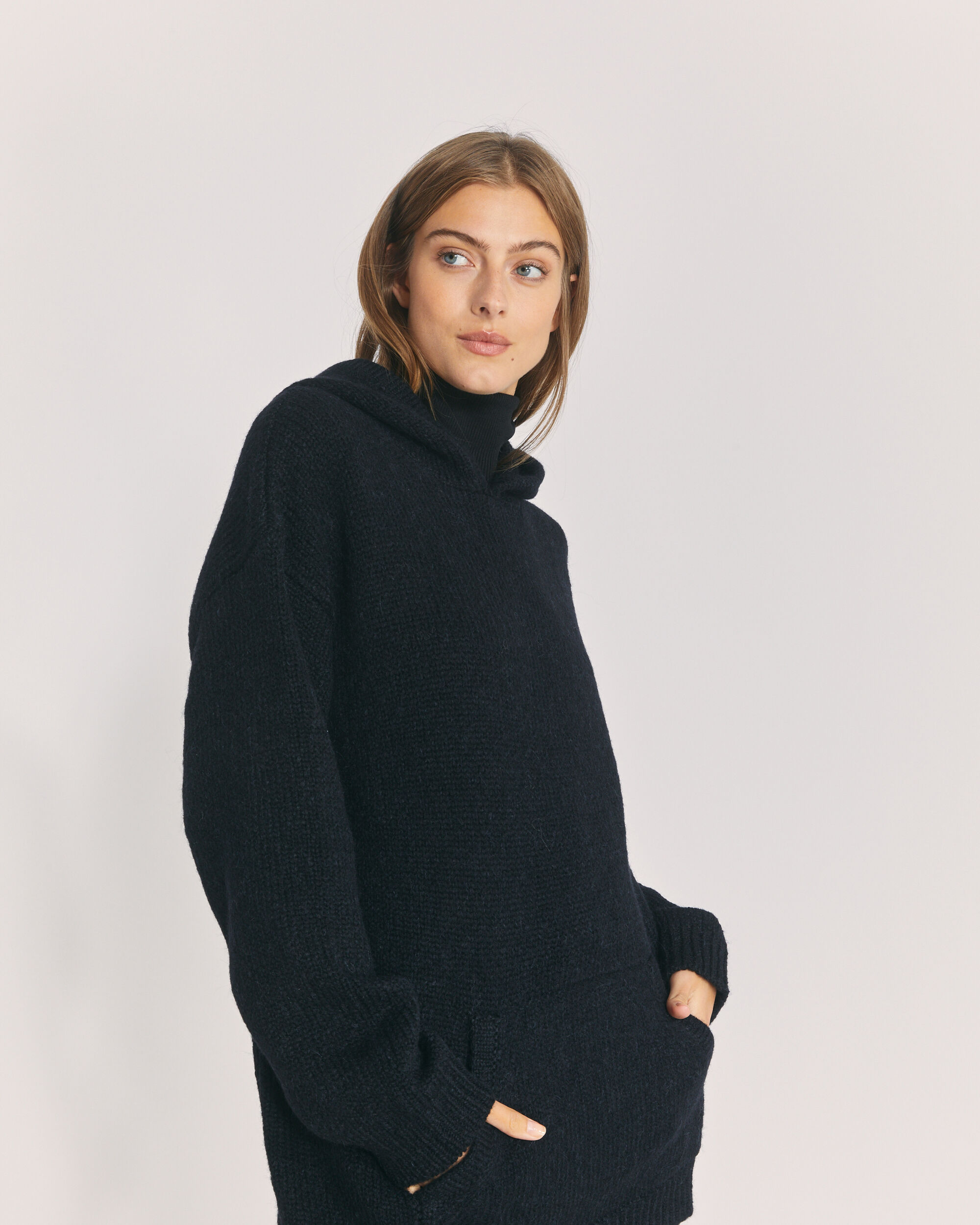 IRO LAUREN SWEATER,BLACK