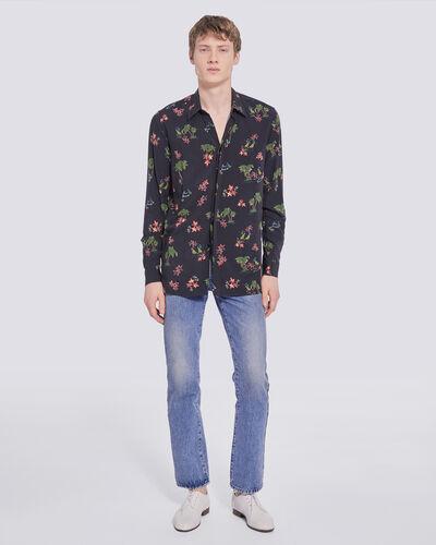 Iro Wailers Long Sleeve Hawaiian Button Up Shirt In Black