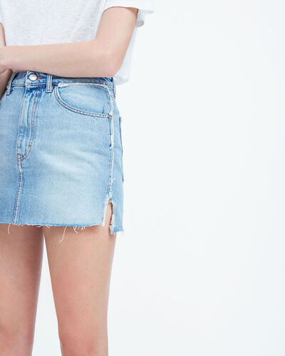 IRO - JUPE PEZA LIGHT DENIM