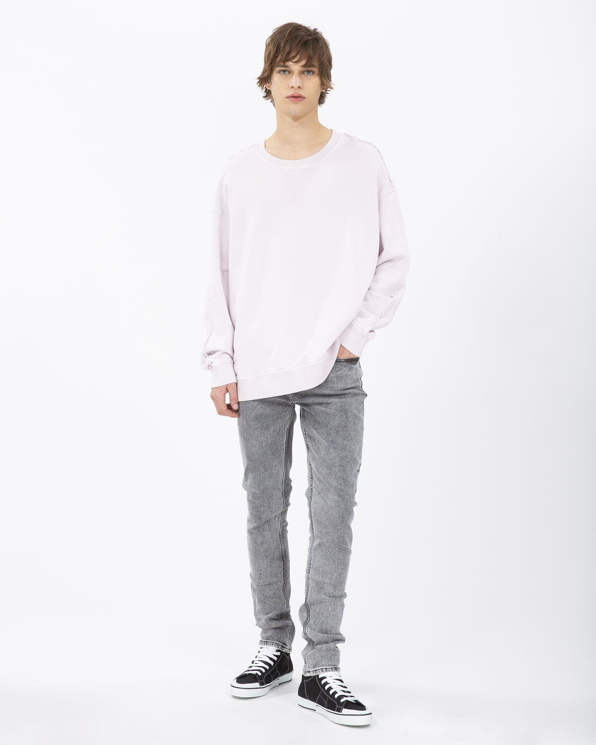 IRO - DOGGED SWEATER BLUSH PINK