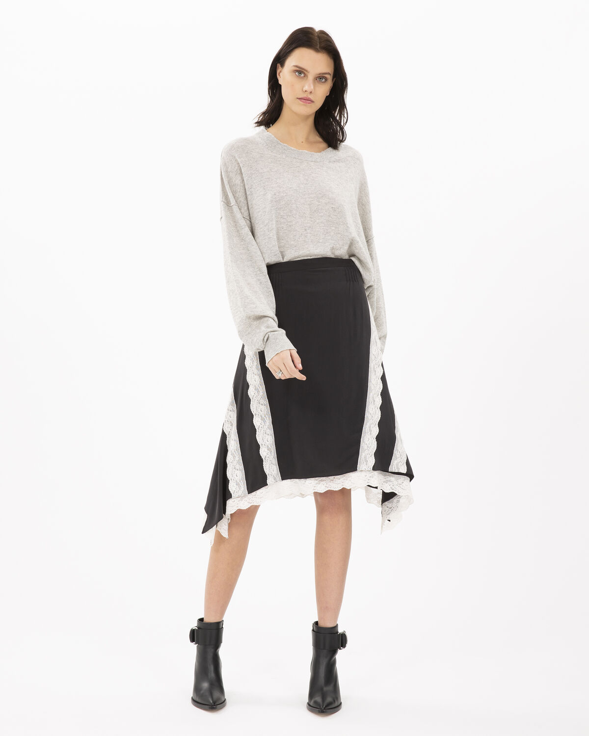 Present Skirt Black And Ecru by IRO Paris