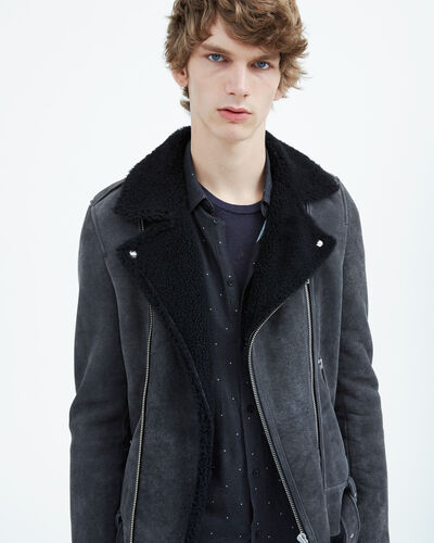 IRO - SEREBE LEATHER JACKET DARK GREY