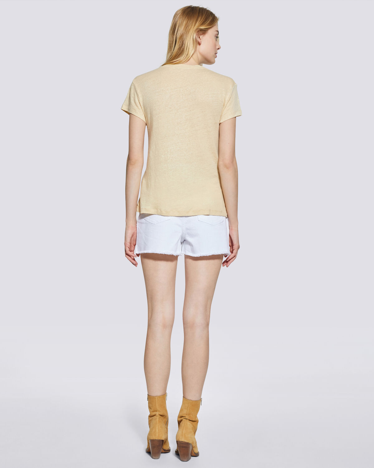 IRO - THIRD SHORT SLEEVE CREW NECK T SHIRT LIGHT YELLOW