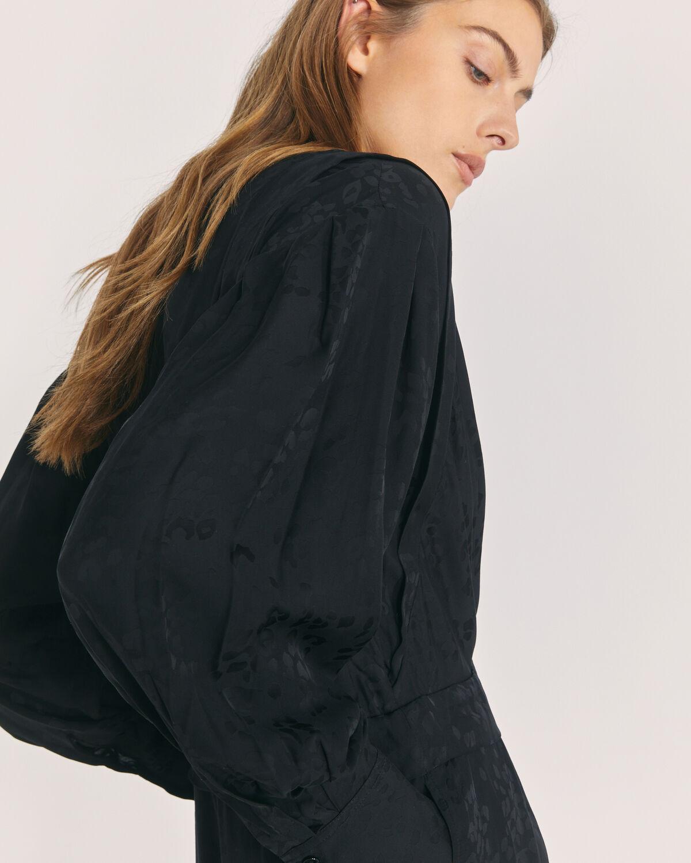 IRO - ANTERO LONG SLEEVE MAXI DRESS BLACK