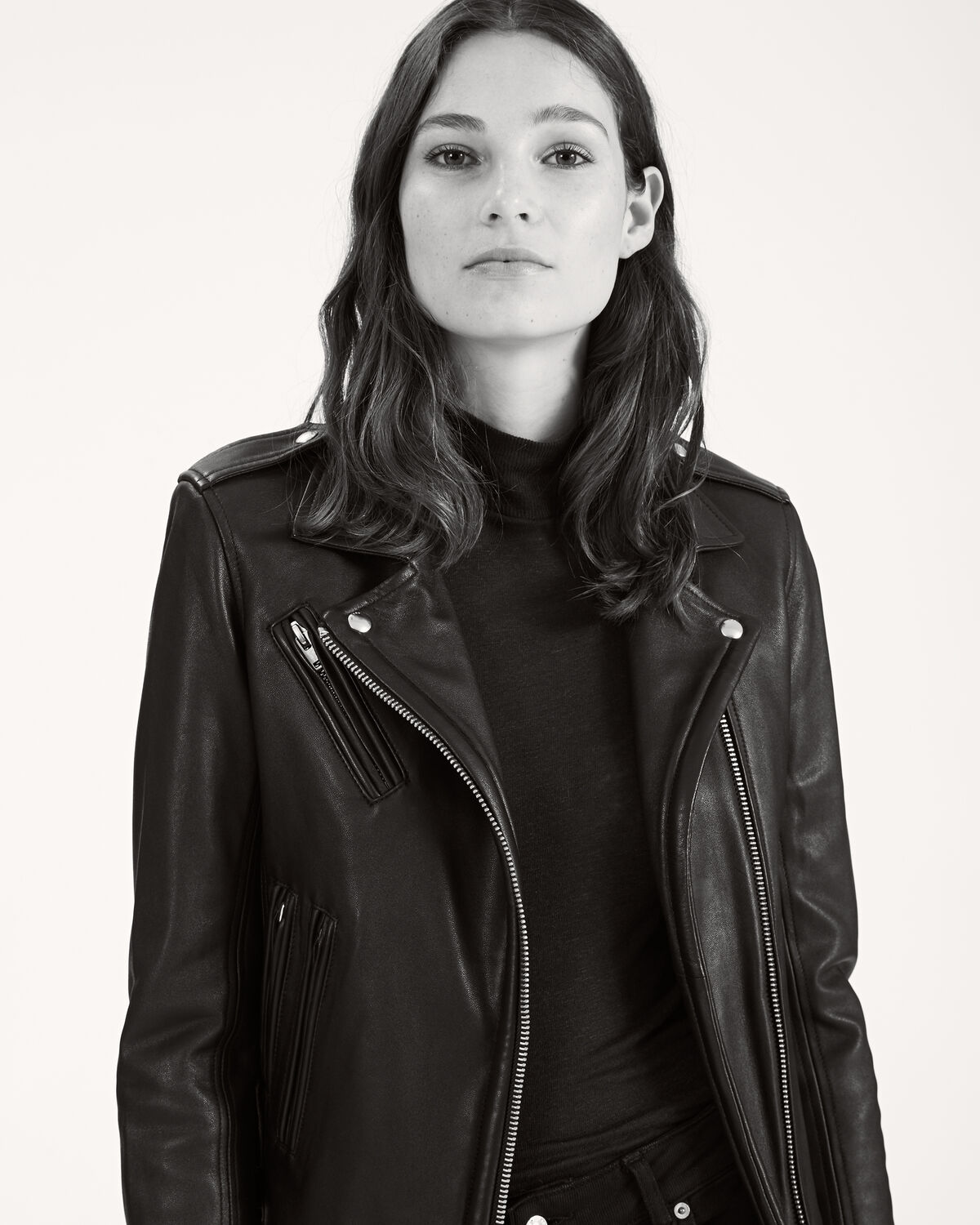 IRO - HAN LEATHER JACKET BLACK