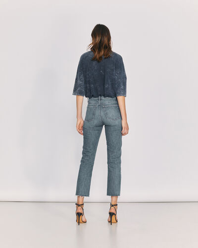 IRO - JEAN TAILLE HAUTE COUPE DROITE HYPNOSIS COUNTRY MID BLUE