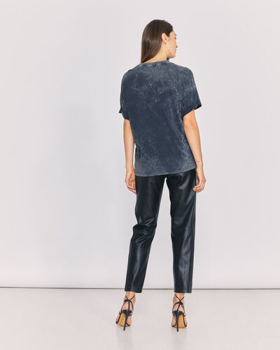 IRO - MARTYA T-SHIRT BLACK/ECRU