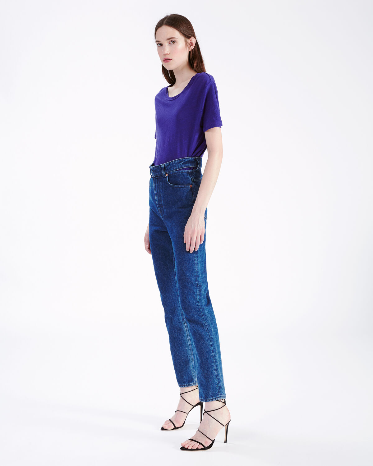 IRO - LUCIANA T-SHIRT PURPLE BLUE