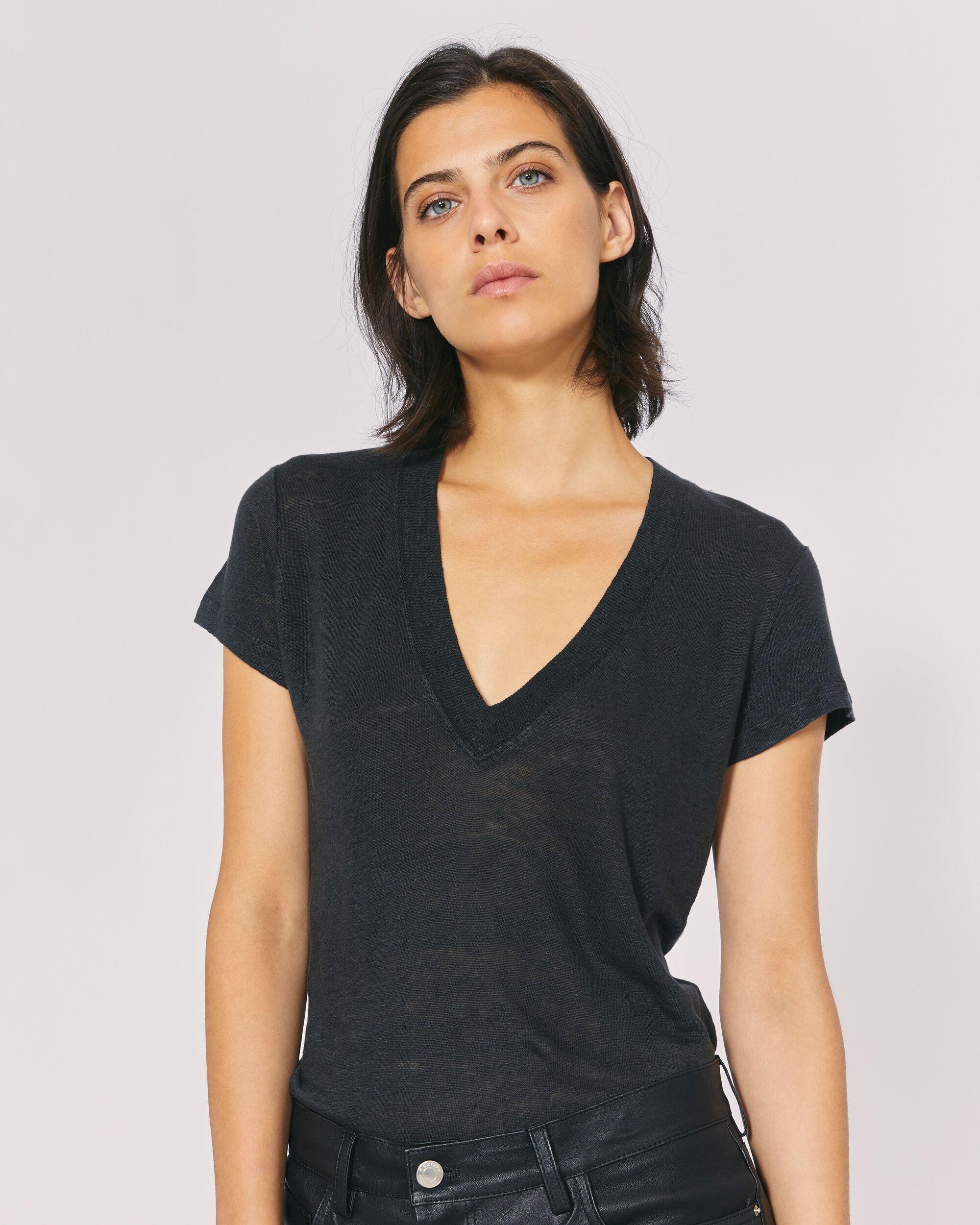 이로 티셔츠 IRO RODEO T-SHIRT,BLACK