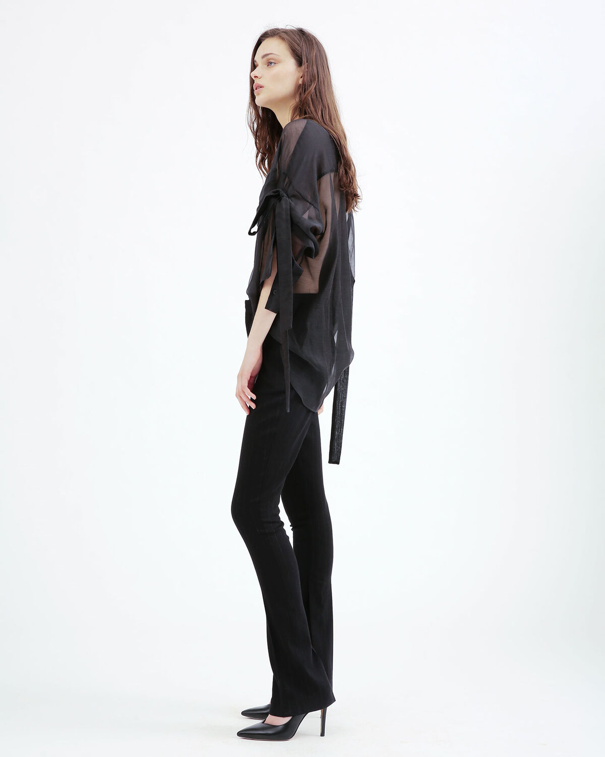 IRO - PANTALON BIAGA BLACK/GREY