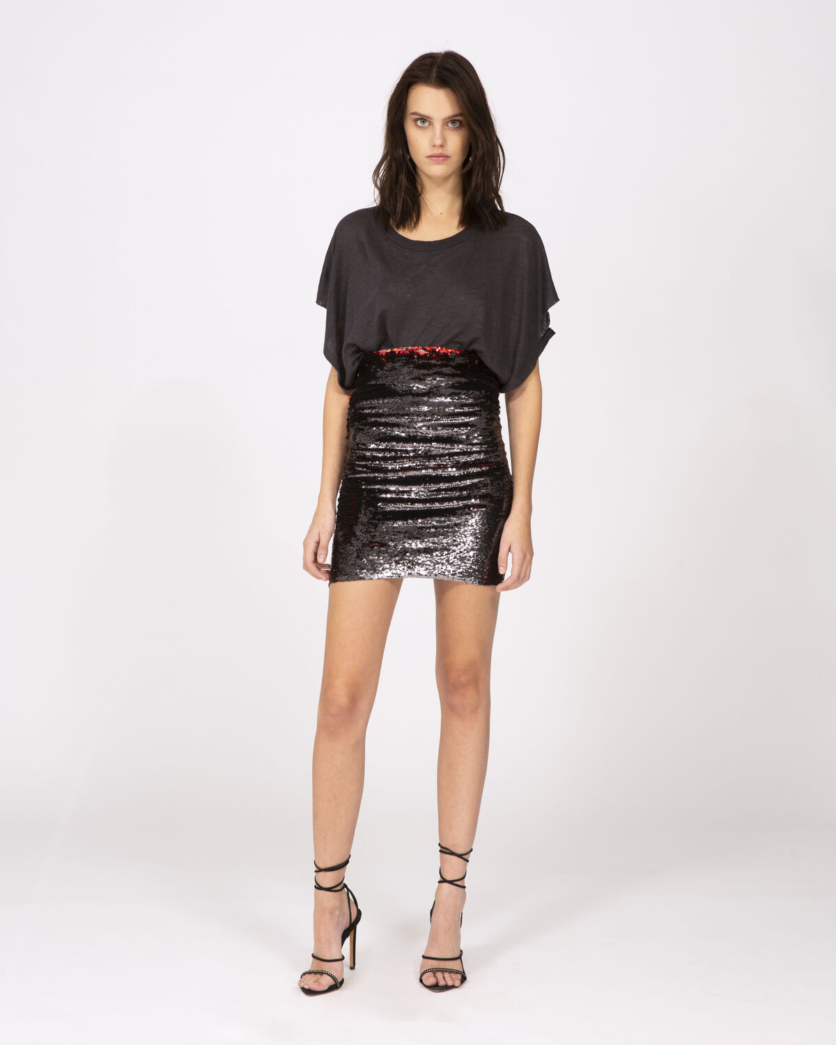 Dreaming Skirt Grey And Red by IRO Paris