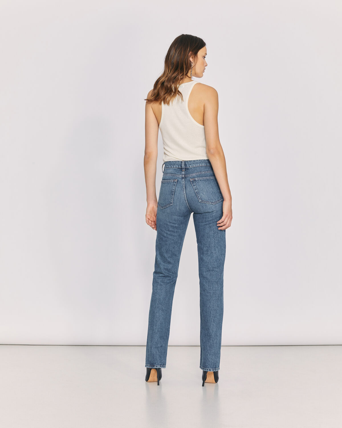 IRO - SLATE HIGH WAIST BOOTCUT JEANS COUNTRY MID BLUE