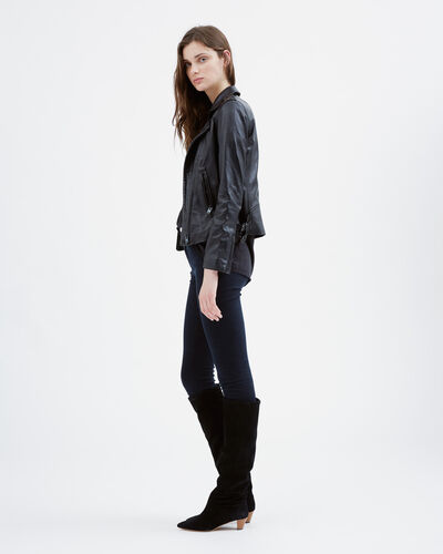 IRO - HAN LEATHER JACKET BLACK/BLACK