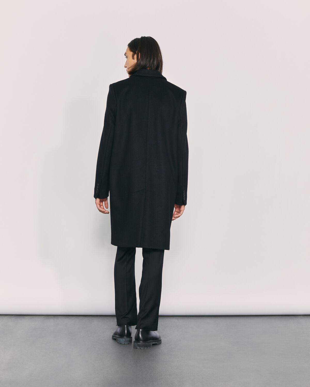 IRO - MANTEAU LONG EN LAINE ALLEC BLACK