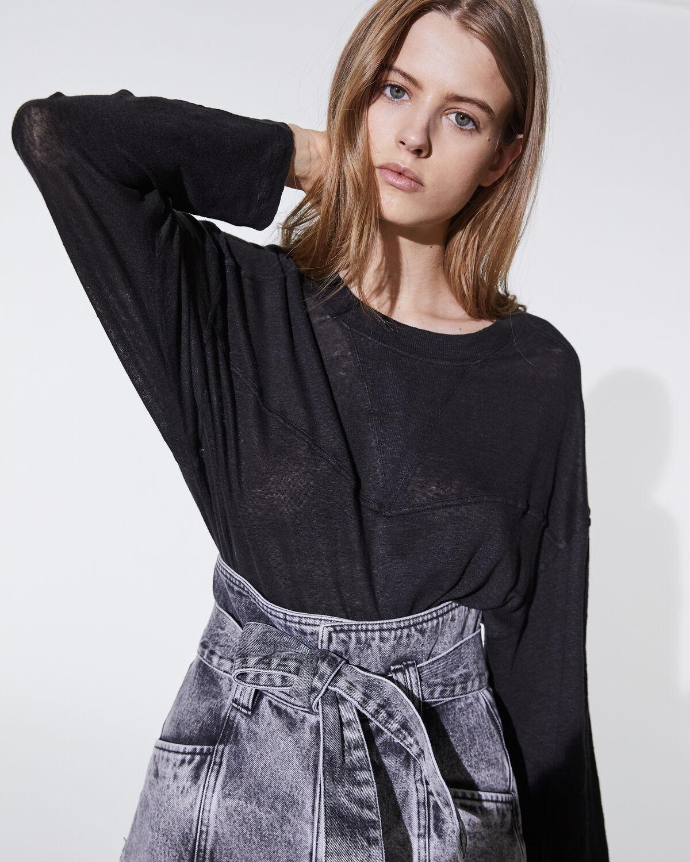IRO - COWAN T-SHIRT BLACK
