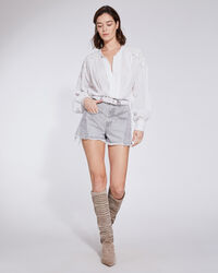 IRO - LOREZ HIGH WAIST DENIM SHORTS SMOKE GREY