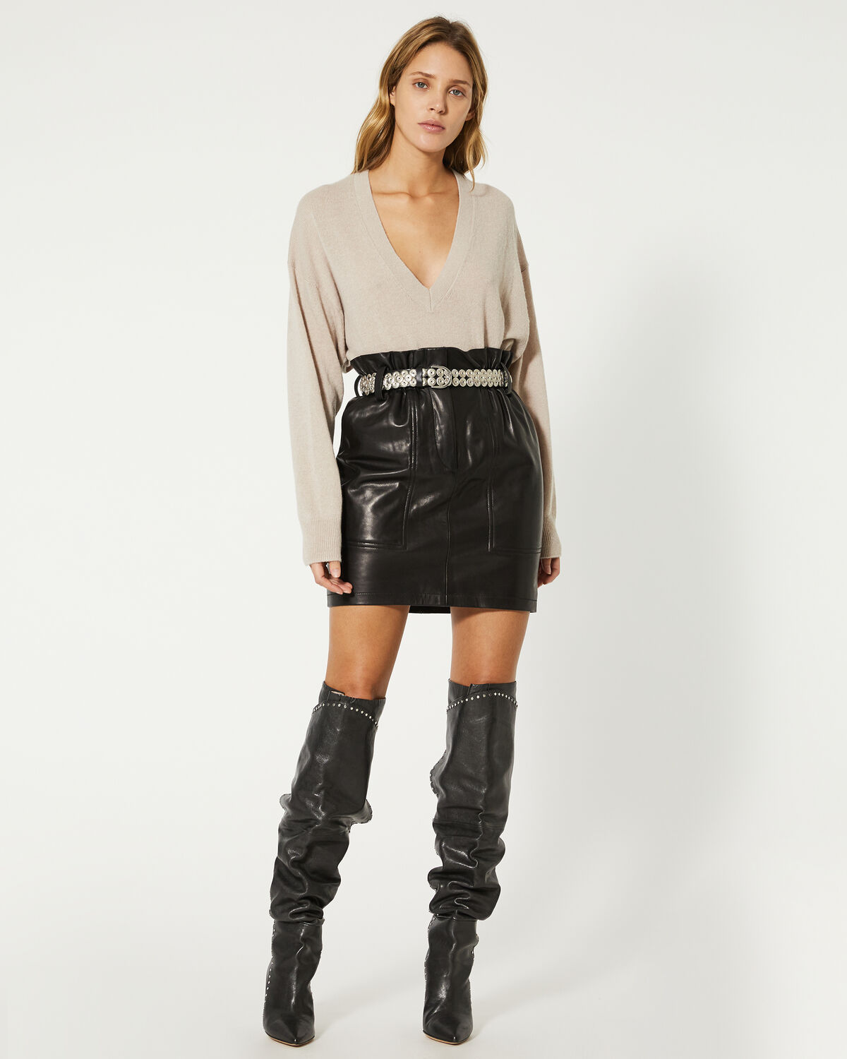 IRO - TORRITA SWEATER LIGHT TAUPE