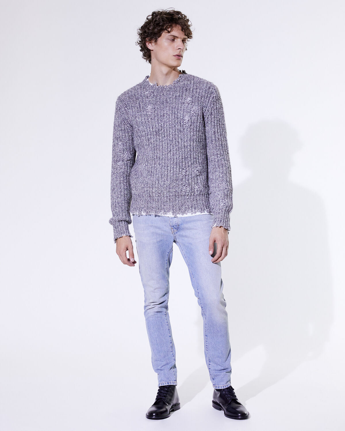 IRO - PULL ALBALI MIXED GREY