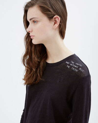 IRO - THIAT T-SHIRT BLACK/ECRU