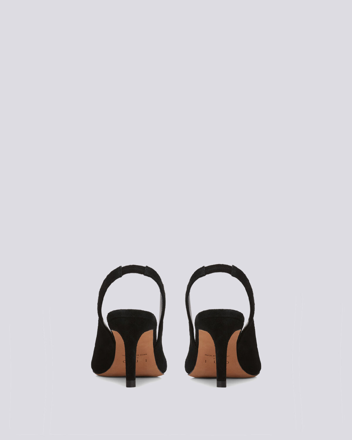 IRO - HOA BLACK SUEDE SLINGBACK PUMPS BLACK