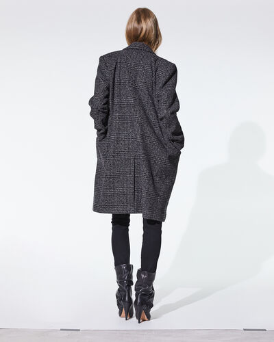 IRO - KARPA COAT BLACK/BROWN