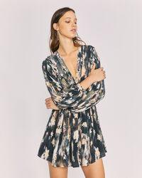 IRO - KEMY DRESS BLACK/GREY
