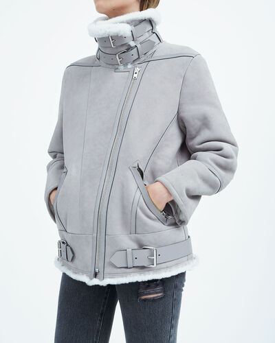 IRO - MANTEAU BARRETT BLUE GREY
