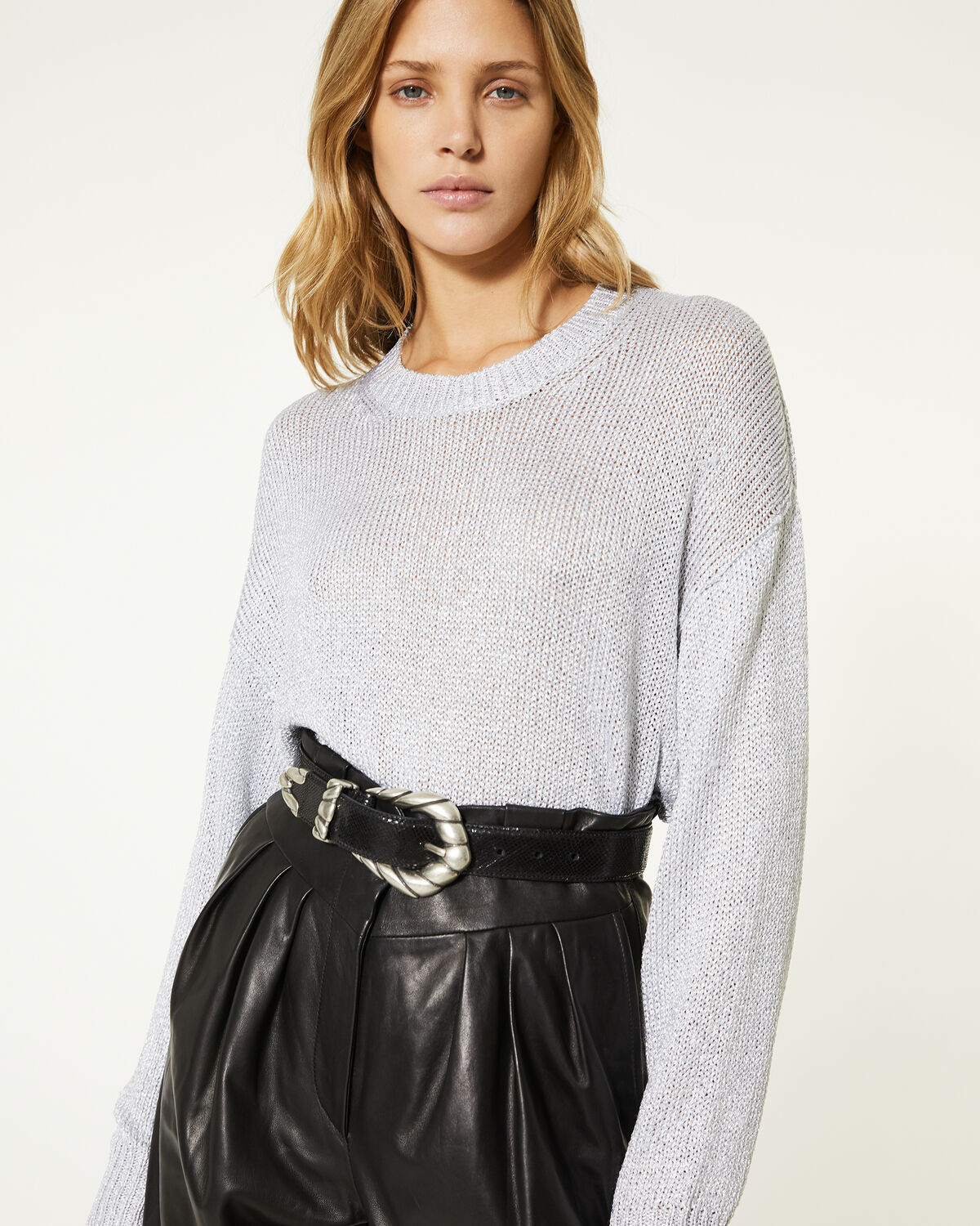 IRO - NARODI SWEATER LIGHT SILVER