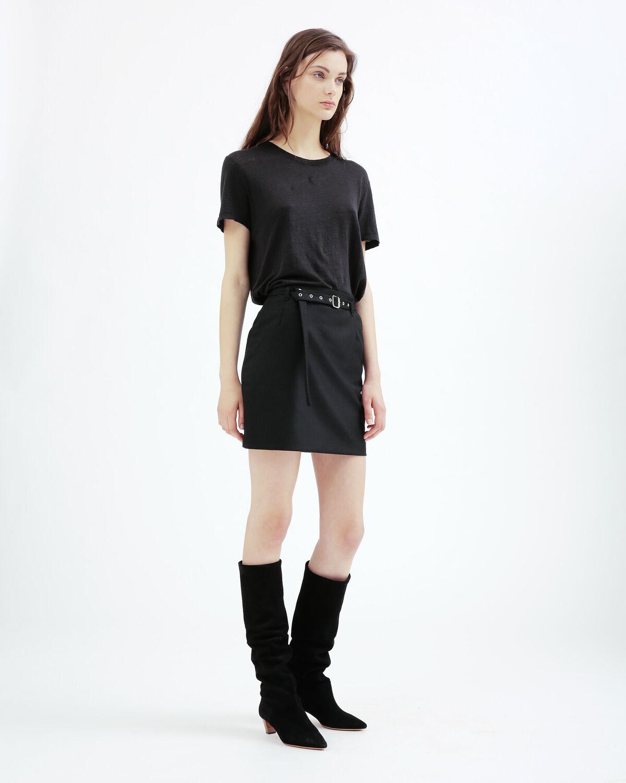 IRO - JUPE LORIANE BLACK/ECRU