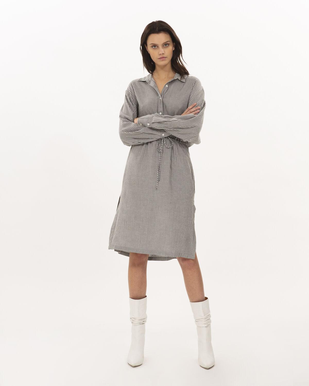 IRO - MARKALA DRESS BLACK/WHITE