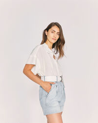 IRO - MANLY SHORT SLEEVE BLOUSE TOP ECRU