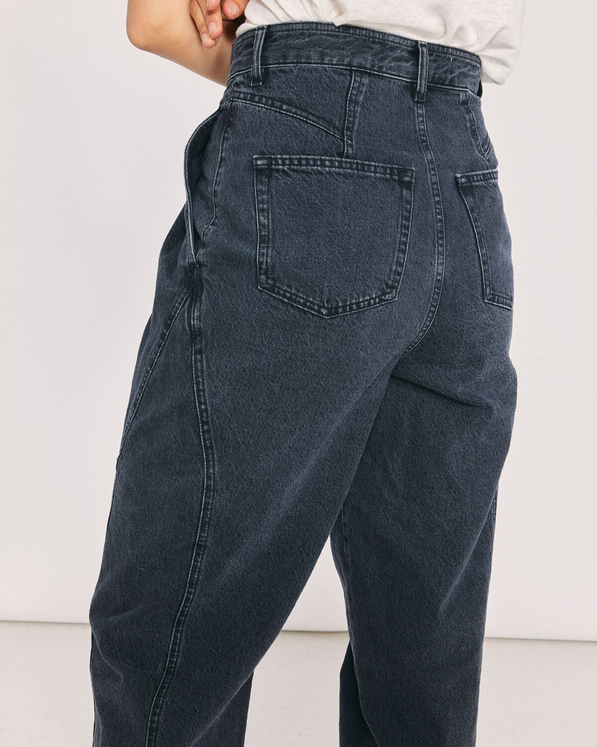 IRO - VANGIR RELAXED DENIM TROUSERS USED BLACK