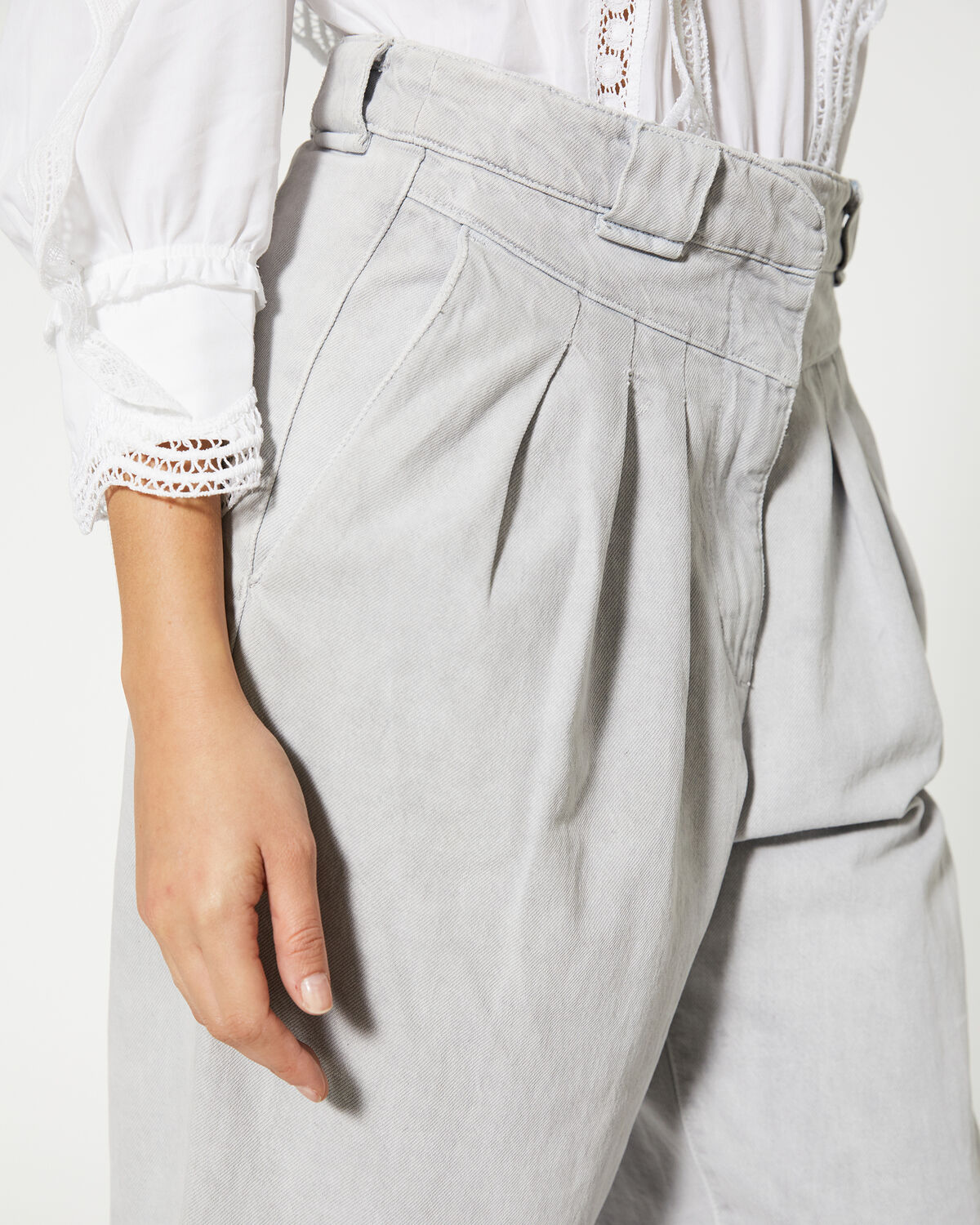 IRO - DESPRES TROUSERS GREY WHITE