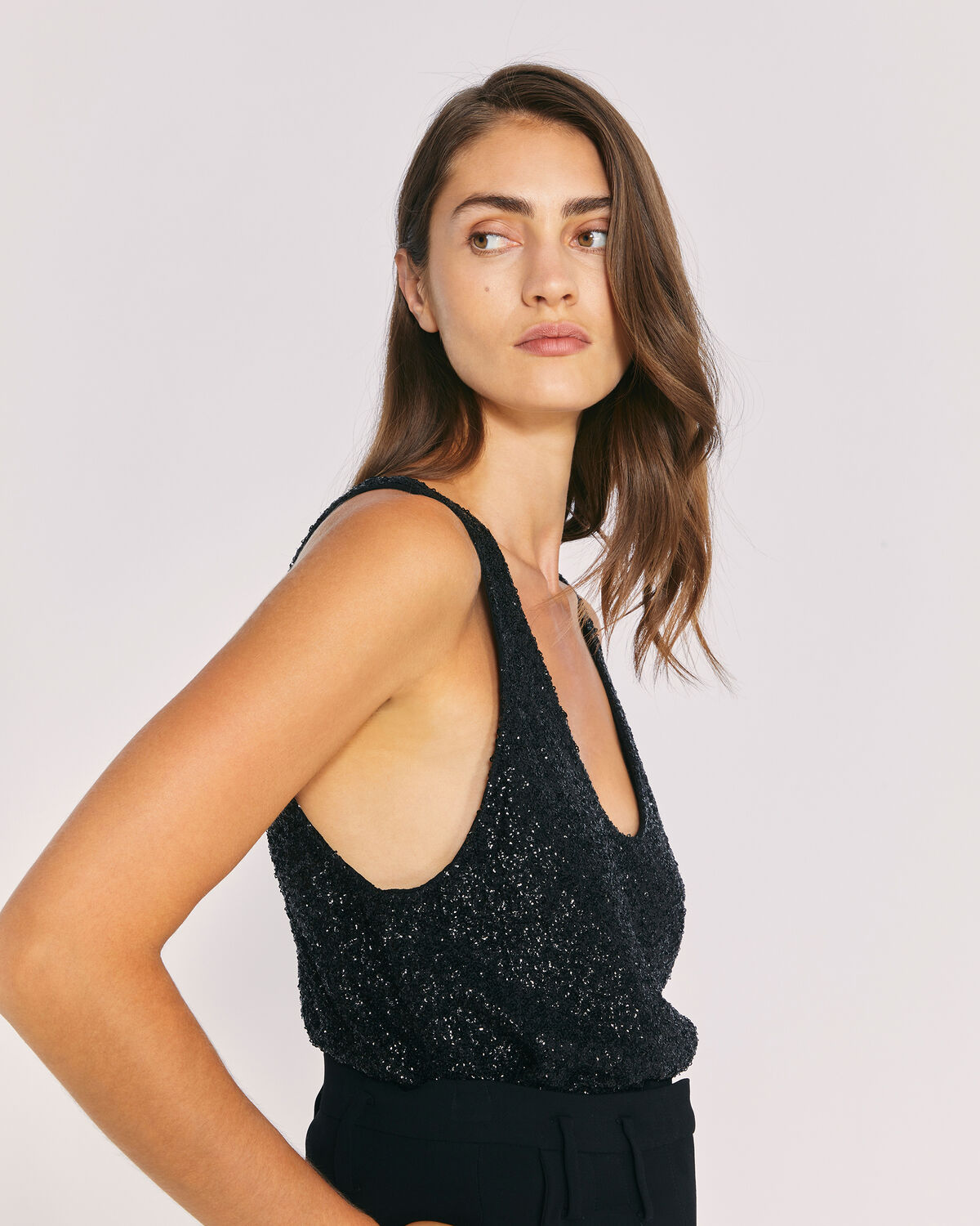 IRO - SPOOL TOP BLACK