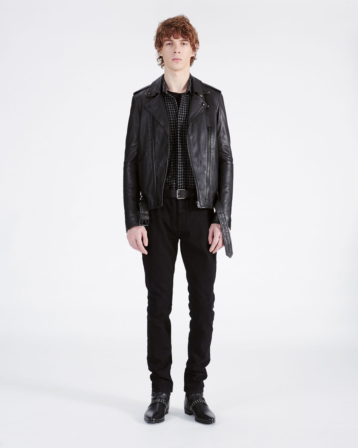 IRO - ARONEW LEATHER JACKET BLACK