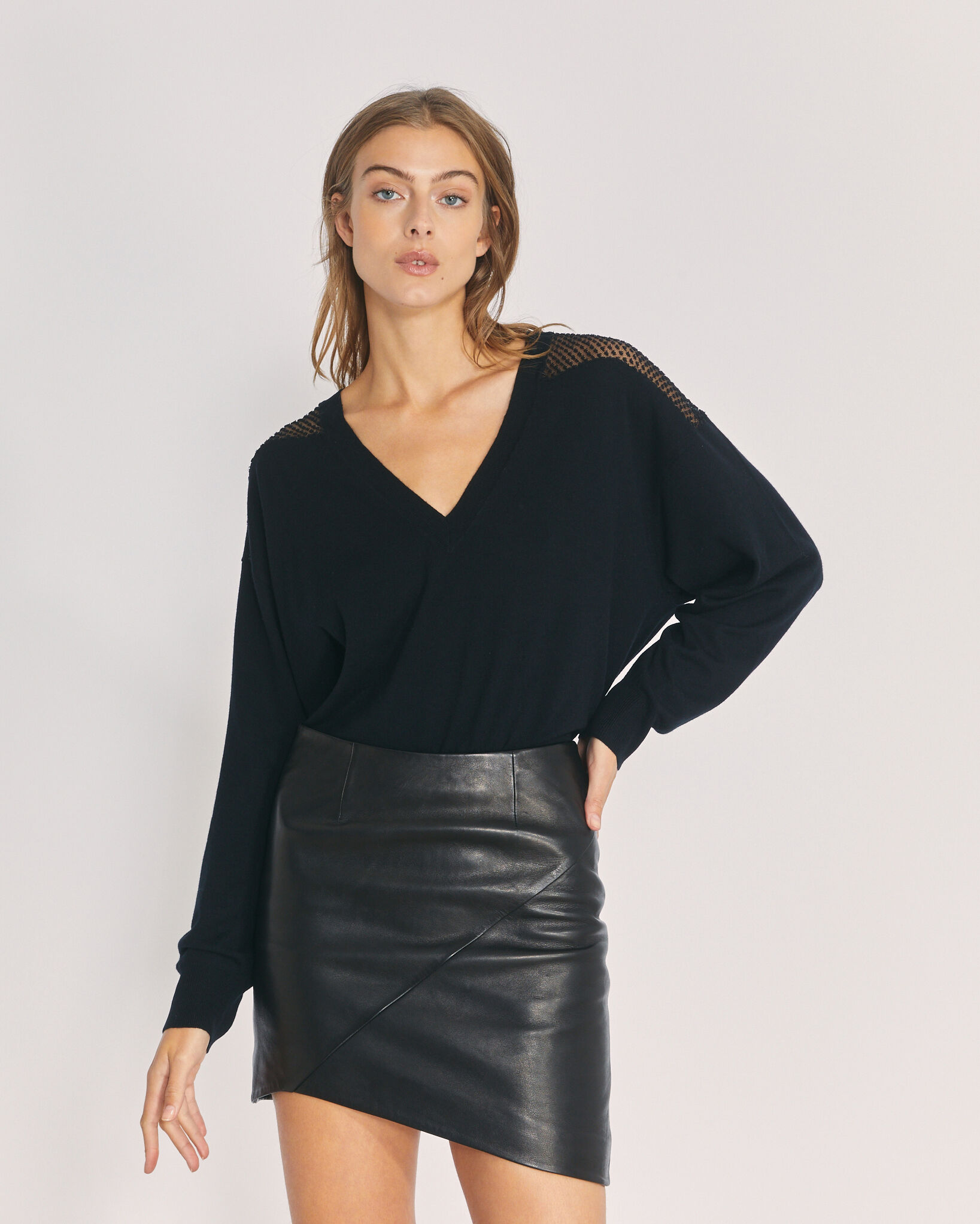 IRO NABAS SWEATER,BLACK