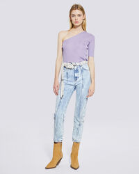 IRO - CELSIAN ACID WASH HIGH WAIST CROPPED JEANS SNOW BLUE
