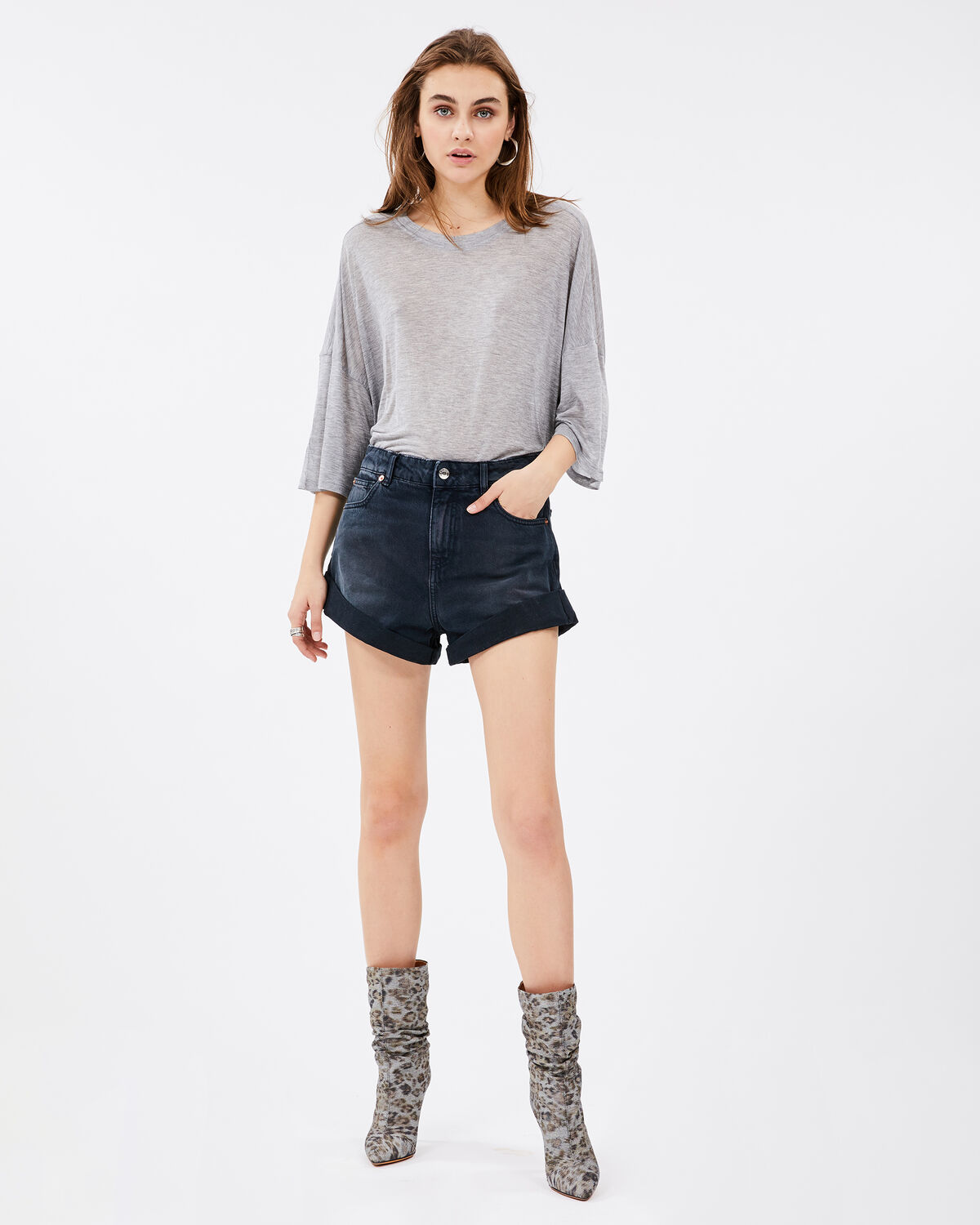 Sober T-Shirt Grey by IRO Paris