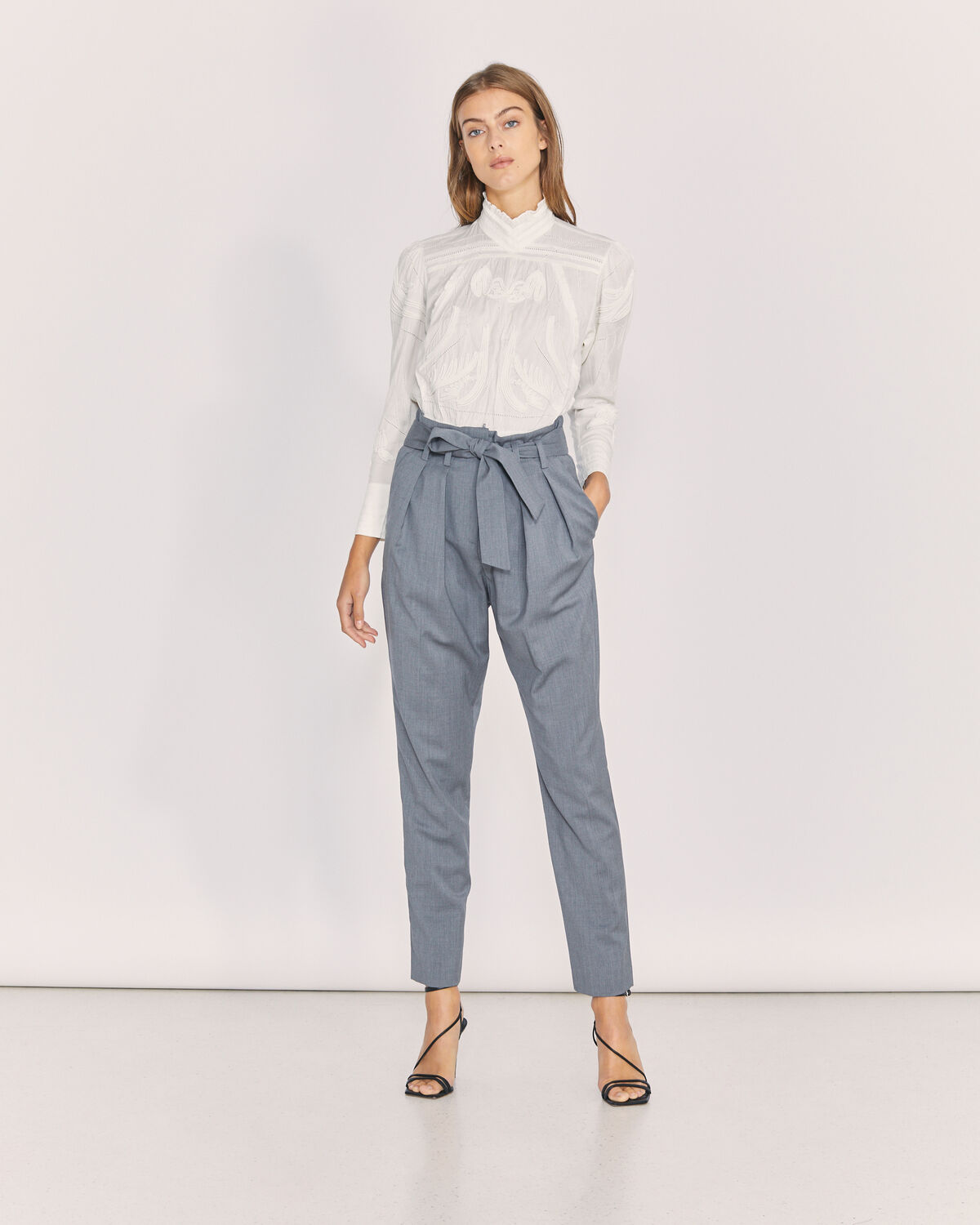 IRO - BETTINA GREY PAPERBAG TROUSERS GREY